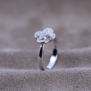 2.4 ct.tw Clover Halo Wedding Deco ring